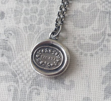 Load image into Gallery viewer, Fidati, Trust.... Antique wax letter seal pendant. Sterling silver.