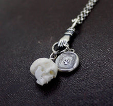 Load image into Gallery viewer, Skull Charm, Bone carved skull