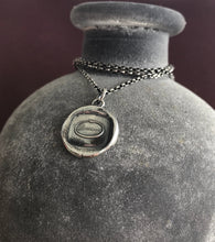 Load image into Gallery viewer, Persevere, don't give up.  Antique wax letter seal.  Sterling pendant.