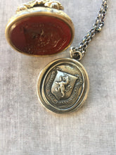 Load image into Gallery viewer, They can because they think they can! Believe in yourself!  Sterling silver wax seal impression, meaningful, inspirational, handmade