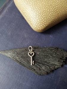 Teeny tiny sterling key.  Add on for your SWALK seals.  Enhance your totem necklace