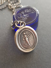 Load image into Gallery viewer, Erato, Goddess of music, poetry  and dance. Greek muse. Tassie seal pendant.