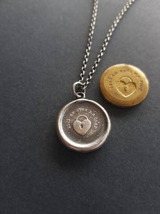 You have the key to my heart. Vous en avez la clef, you have the key (to my heart).  Handmade sterling wax seal pendant.