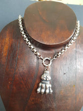 Load image into Gallery viewer, Lions paw necklace, heavy sterling silver, statement necklace.