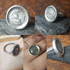 Larger Wax Seal Ring.... Such is life... Pick your size, made to order.