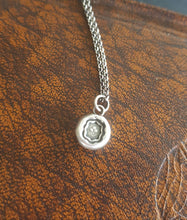 Load image into Gallery viewer, Sterling silver, Shamrock, wax seal amulet. Irish emblem, antique seal impression. Lucky symbol.