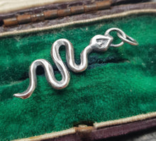 Load image into Gallery viewer, Handmade snake charm, sterling silver add in for your meaningful necklace.