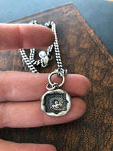 Load image into Gallery viewer, Solid sterling silver curb chain to hang your SWALK amulets. 4mm with lobster clasp.  Oxidized and hand polished.