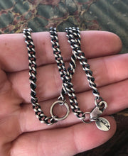 Load image into Gallery viewer, Sterling silver curb chain.  Large loop to hang youe amulet, charm, treasure. made to order to your size.