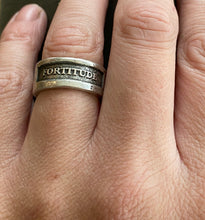 Load image into Gallery viewer, Fortitude Ring.  Sterling silver handmade textured ring made to order in your size.
