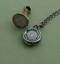 Load image into Gallery viewer, La Paix.....peace, antique wax seal, sterling silver, token, talisman, pendant