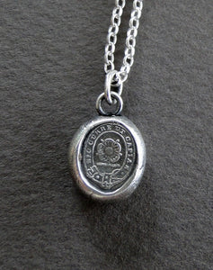 Chase your dreams.....Ambition, Encouragement...... wax letter seal, .....go for it! 100% sterling silver