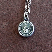 Load image into Gallery viewer, Old yet firm....... old tree trunk, sterling silver, wax letter seal.