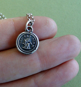 Old yet firm....... old tree trunk, sterling silver, wax letter seal.