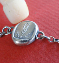 Load image into Gallery viewer, Antique Wax seal Amulet, bracelet,    Holdfast,   various sizes, sterling silver.