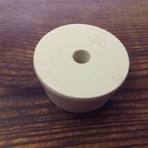 Rubber Stopper, Drilled