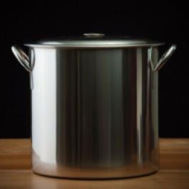 20 Quart Stainless Steel Brewing Pot, 24 guage, w/ lid