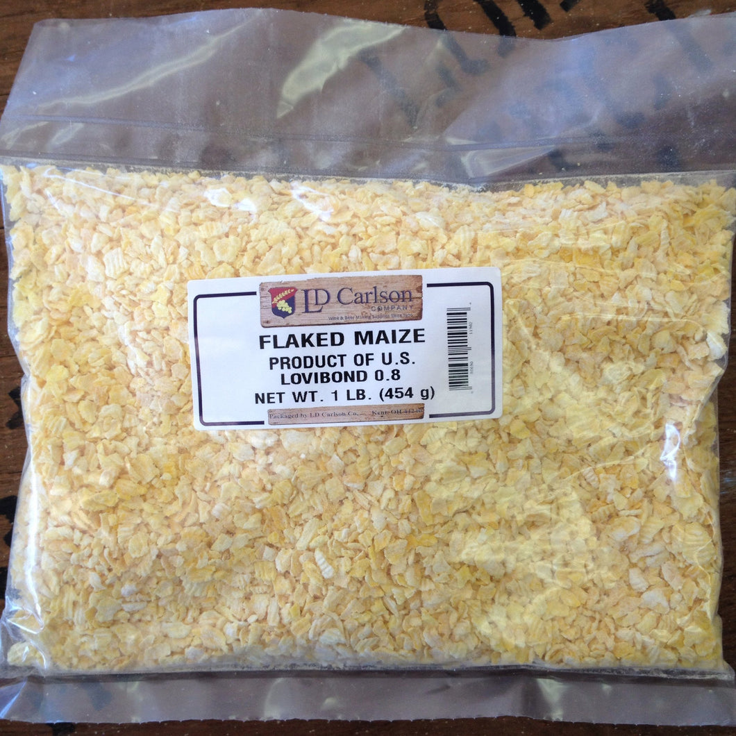 Flaked Corn (Maize), 1lb bag