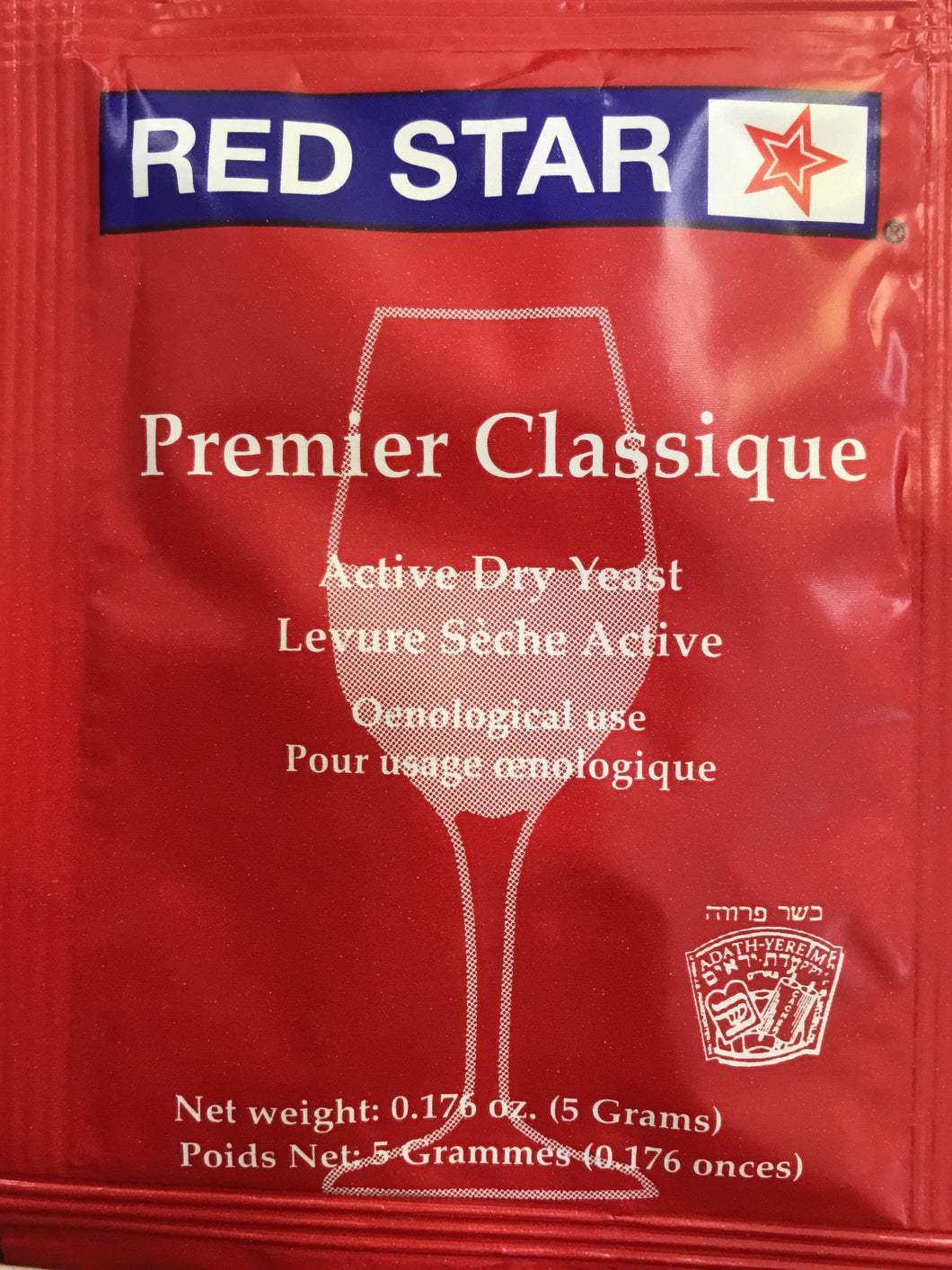 Red Star Premier Classique Wine Yeast, 5 grams