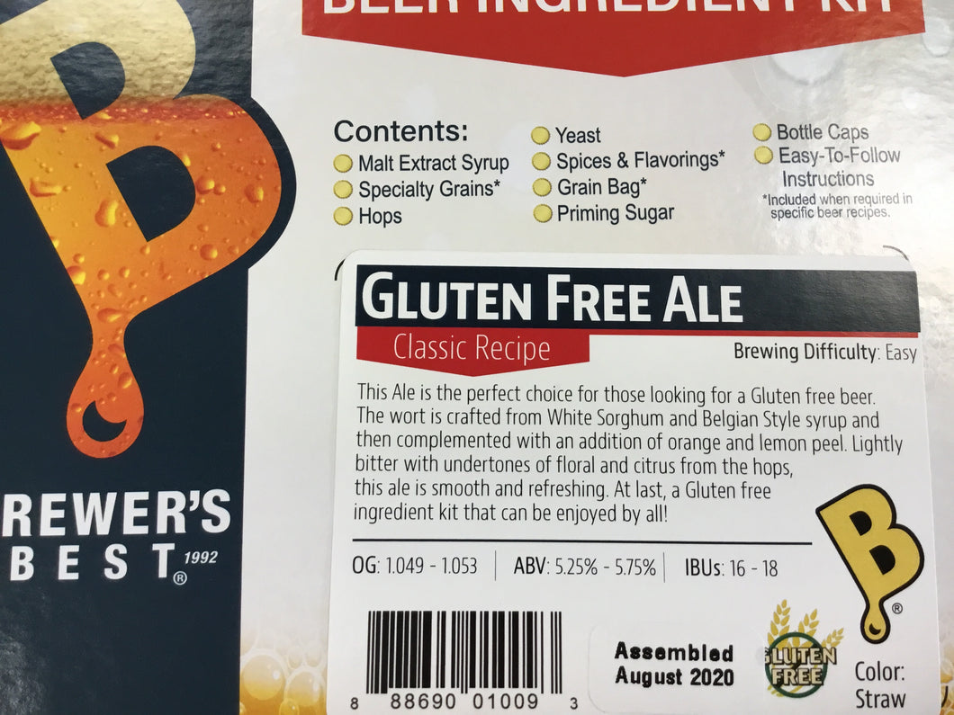 Brewers Best Gluten Free Ale Kit
