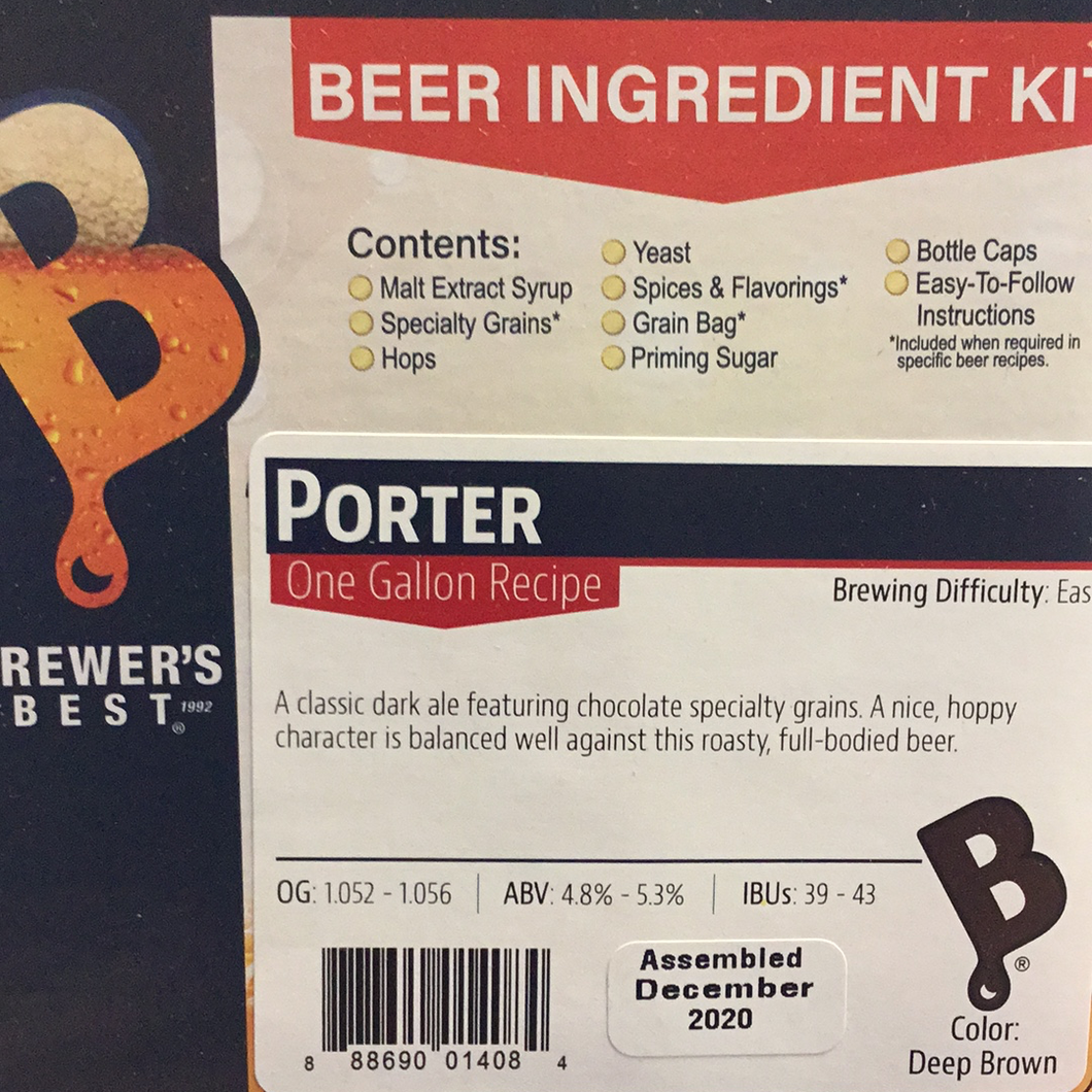 Brewers Best One Gallon Kit- Porter
