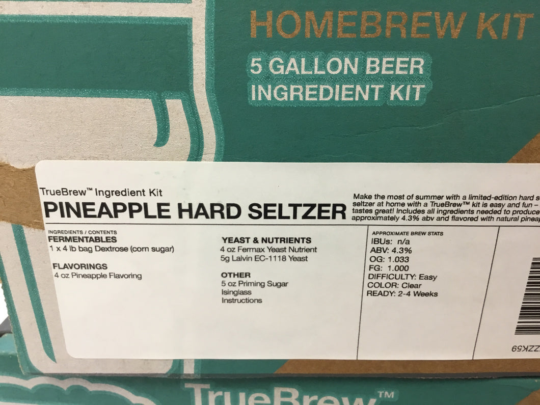 TrueBrew Homebrew Kit-Pineapple Hard Seltzer