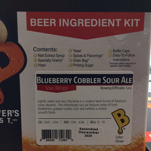 Brewers Best 5 gallon kit- Blueberry Cobbler Sour Ale