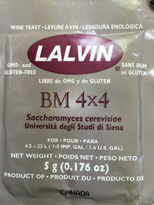 Lalvin BM 4x4 Wine Yeast, 5 gm