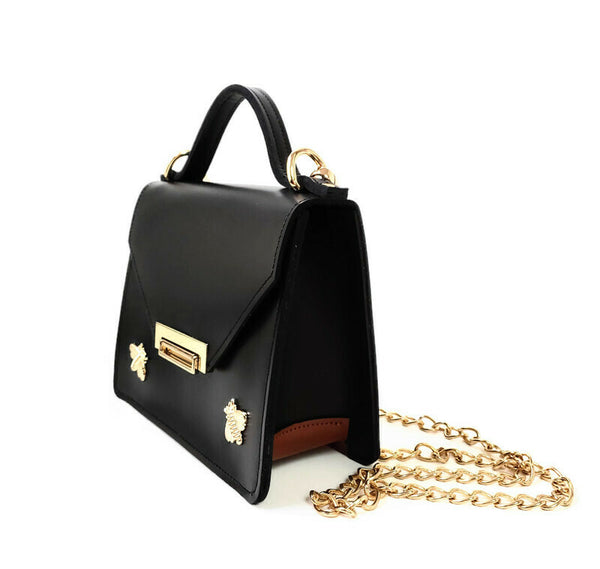 Gavi mini top handle bag in black