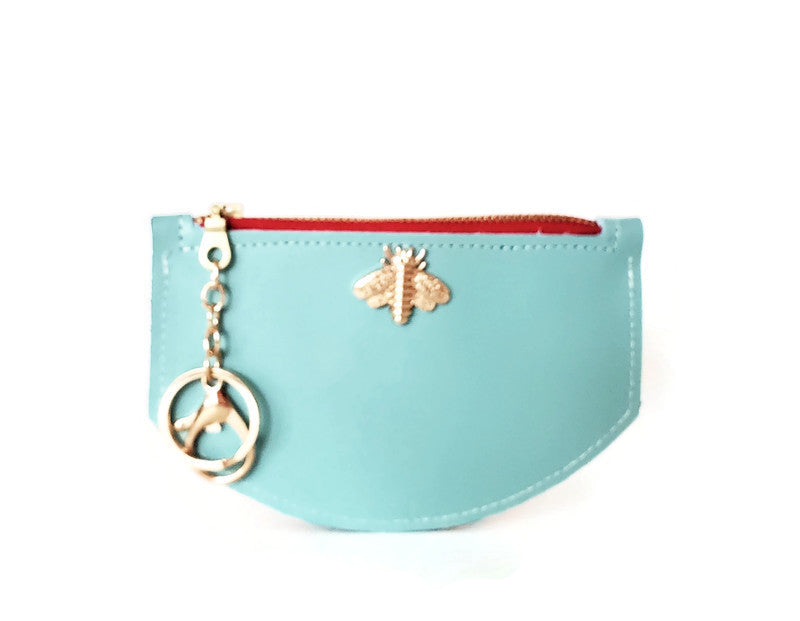 Bee wallet in aqua