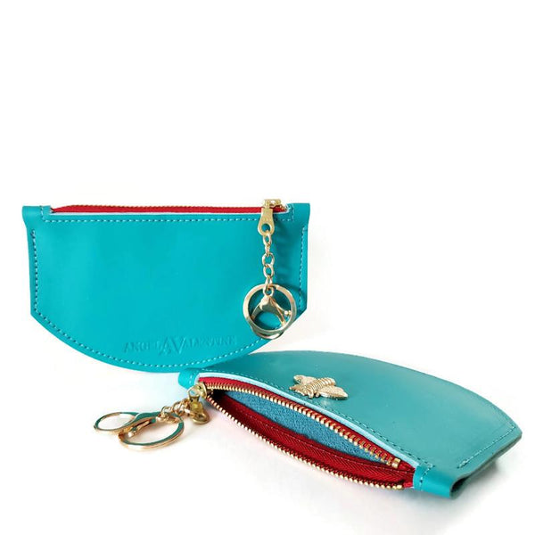Bee wallet in turquoise