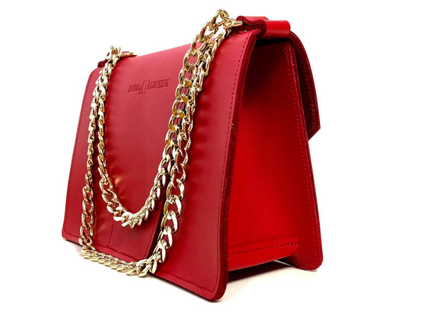 Gavi shoulder bag in saffron red / more colors