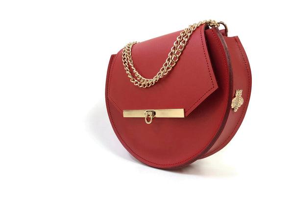 Loel mini crossbody bag in saffron red