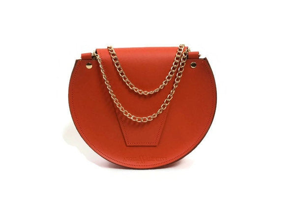 Loel mini crossbody bag in orange crush
