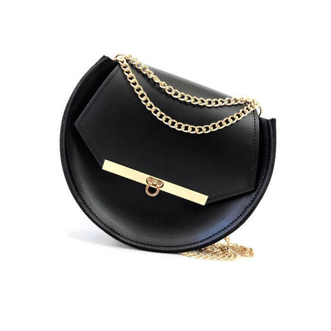 Loel mini crossbody bag in black