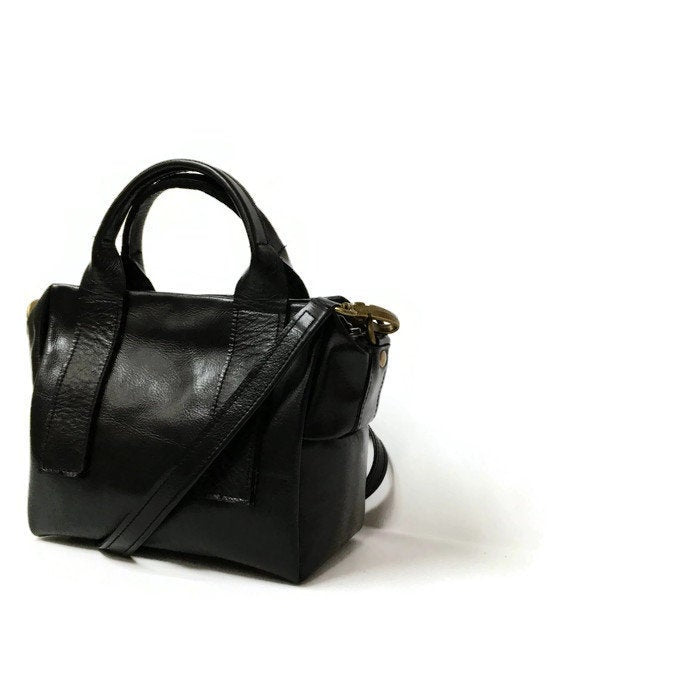 Mini box bag in black