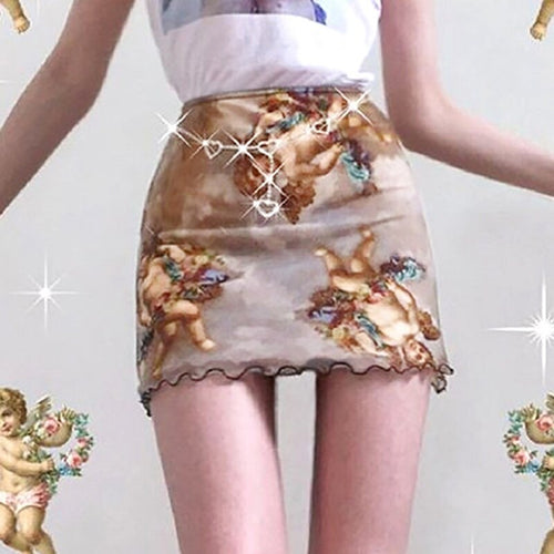 Angel Cherub Mesh Skirt - yourbabezboutique