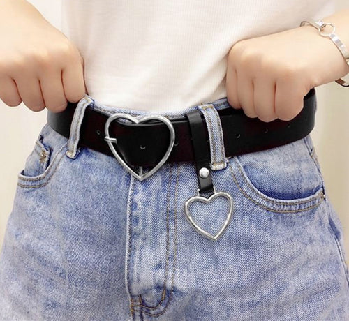 Heart Buckle Belt - yourbabezboutique