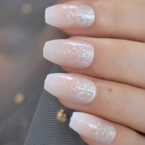 Glitter Angel Nails