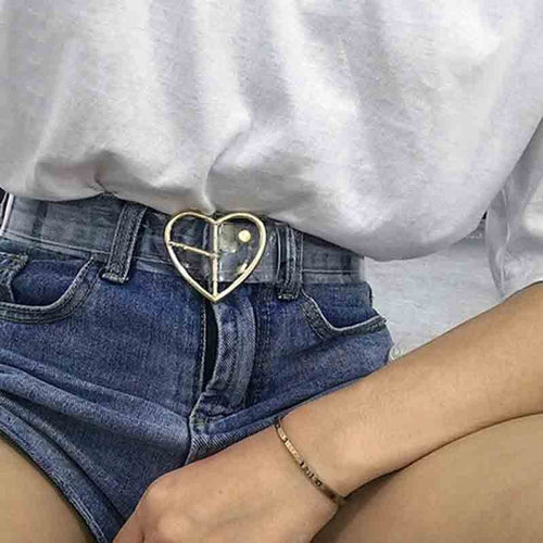 Transparent Heart Belt - yourbabezboutique