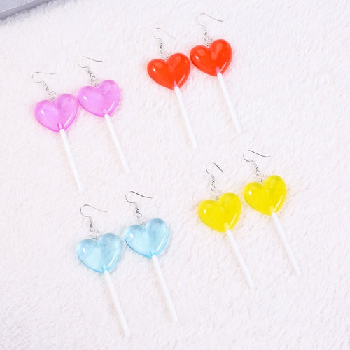 heart Lollipop Earrings - yourbabezboutique