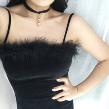 Load image into Gallery viewer, Velvet Faux Fur Dress