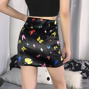 Rainbow Butterfly Skirt - yourbabezboutique