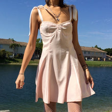Load image into Gallery viewer, Retro Strappy Pink Dress - yourbabezboutique
