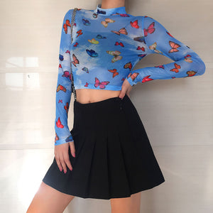 Butterfly Mesh Top - yourbabezboutique