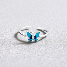 Load image into Gallery viewer, Blue Butterfly Ring - yourbabezboutique