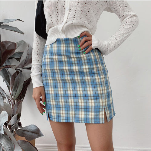 Plaid Mini Skirt - yourbabezboutique