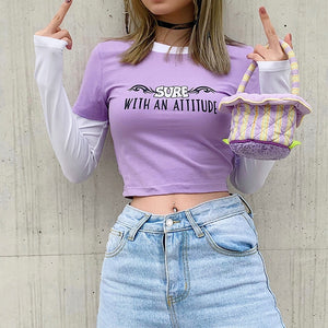 Y2K Attitude Top - yourbabezboutique