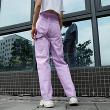 Load image into Gallery viewer, Lavender Cargo Pants - yourbabezboutique