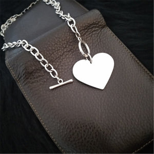 Heart Toggle Necklace - yourbabezboutique